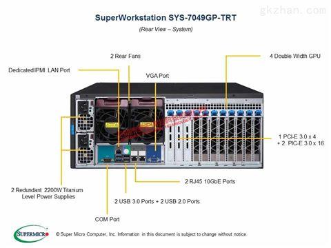 超微7049GP-TRT LGA3647 准系统4路服务器