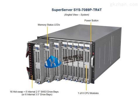 超微7089P-TR4T多处理器7U8刀高密度服务器