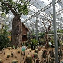 绿色生态餐厅 观光农业种植 连栋玻璃温室