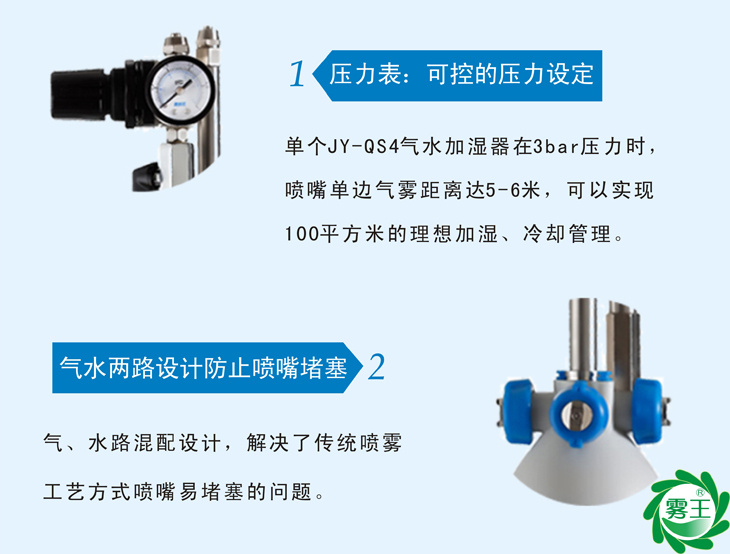 氣水加濕器特點1