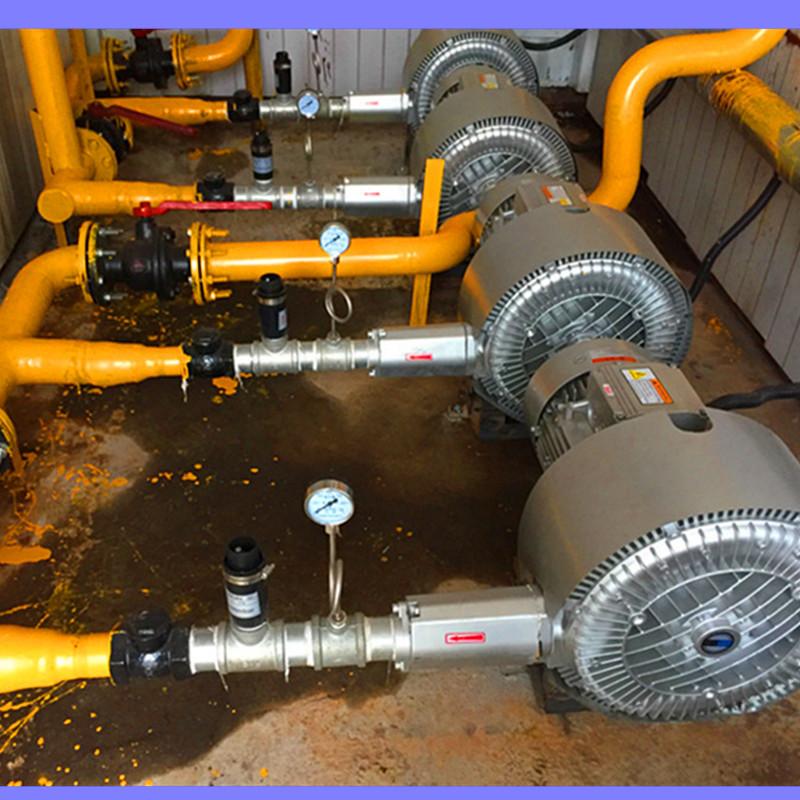 污水处理双段 双级高压风机 曝气用风机 化工废水曝气漩涡气泵示例图2