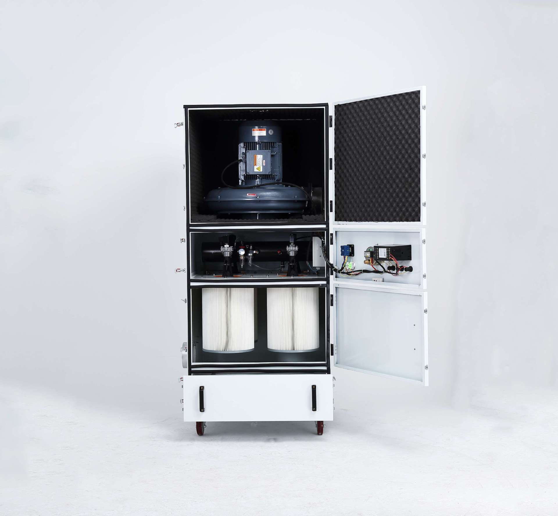 柜式脉冲反吹吸尘器 石墨粉尘吸尘器  抛光打磨滤筒式吸尘器 脉冲反吹吸尘器示例图4