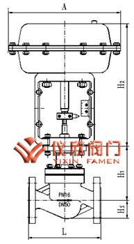 气动薄膜笼式单座调节阀