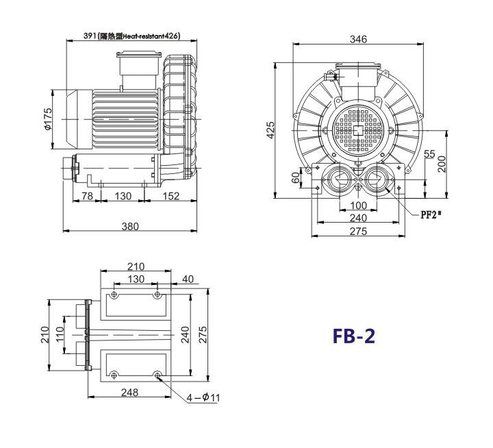 哈尔滨油气输送防爆高压风机 FB-25油气输送防爆高压风机 厂家防爆风机示例图14