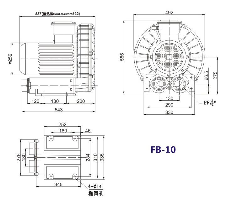 哈尔滨油气输送防爆高压风机 FB-25油气输送防爆高压风机 厂家防爆风机示例图18