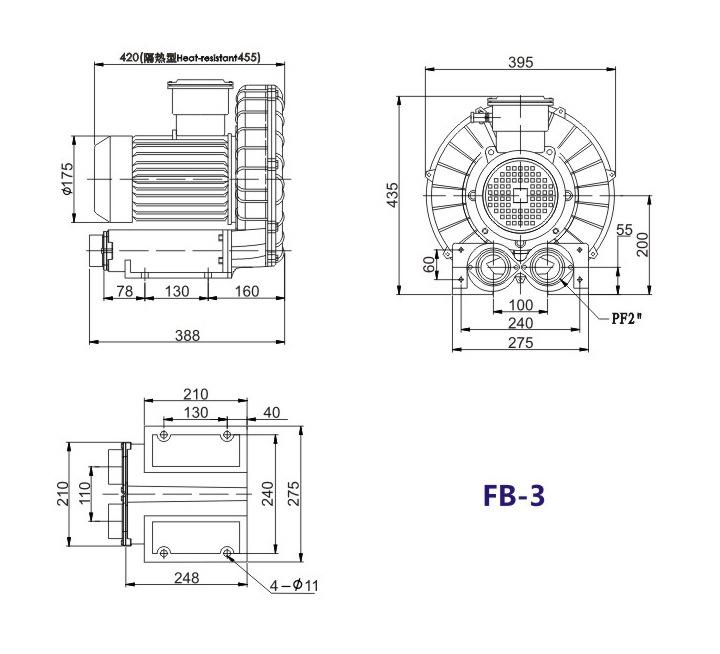 哈尔滨油气输送防爆高压风机 FB-25油气输送防爆高压风机 厂家防爆风机示例图15