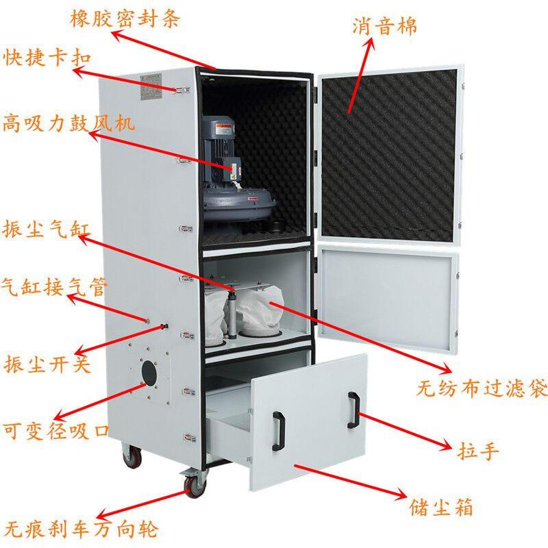 4KW脉冲吸尘器 打磨吸尘器 磨床吸尘器 砂轮抛光吸尘器示例图7