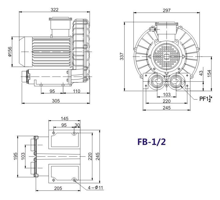 秦皇岛船用防爆高压风机 FB-25船用防爆高压风机 厂家防爆风机示例图12