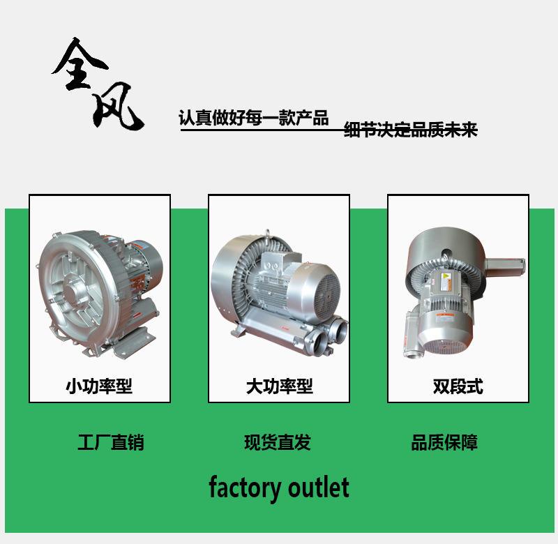 全风高压风机380v高压旋涡风机工业吸尘增氧气泵示例图1