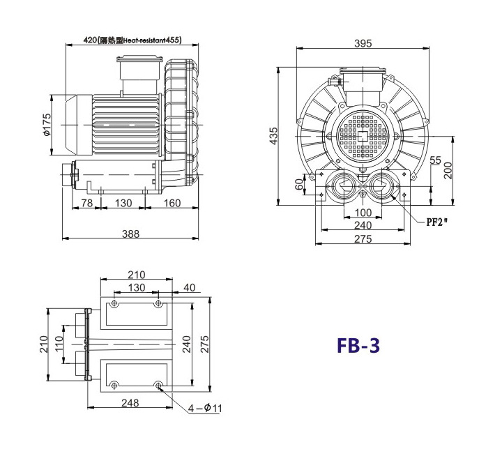 洛阳气体防爆高压风机 FB-25气体防爆高压风机 厂家防爆风机示例图15