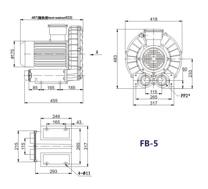洛阳气体防爆高压风机 FB-25气体防爆高压风机 厂家防爆风机示例图16