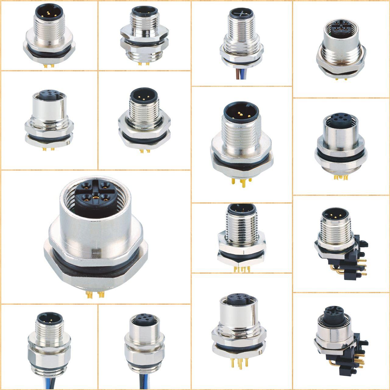 用于控制自动化的 M8和M12 Connectors 上海科迎法现在提供多种高质量,价格具有竞争力的M8 和M12圆形连接器和组件。连接器和组件有公头或母头连接器类型,以及90° 角度或180°直线版本。M8连接器和组件有3芯和4芯配置,而M12连接器和组件有4芯,5芯或8芯配置(也可提供PNP和NPN版本)。带LED的透明外壳版本也可用于M8和M12两种款式。电缆选项包括PVC或PUR,屏蔽或规范作为直线或螺旋配置。连接器的额定值为IP 65,而组件的防护等级为IP 67。六种连接器类型,带或不带LED和浪涌抑制。所有连接器均采用坚固耐用,抗冲击的塑料外壳,模制组件具有出色的电缆应变消除特性,并具有出色的环境和元件保护。预接线单元的电缆长度为½米至10米,可与M-12连接器配合使用。电缆组件版本提供各种不同的电缆材料,可订购多种不同的电线连接器配置。无线连接器带有IP65防护等级,同时模塑组件的防护等级为IP67.