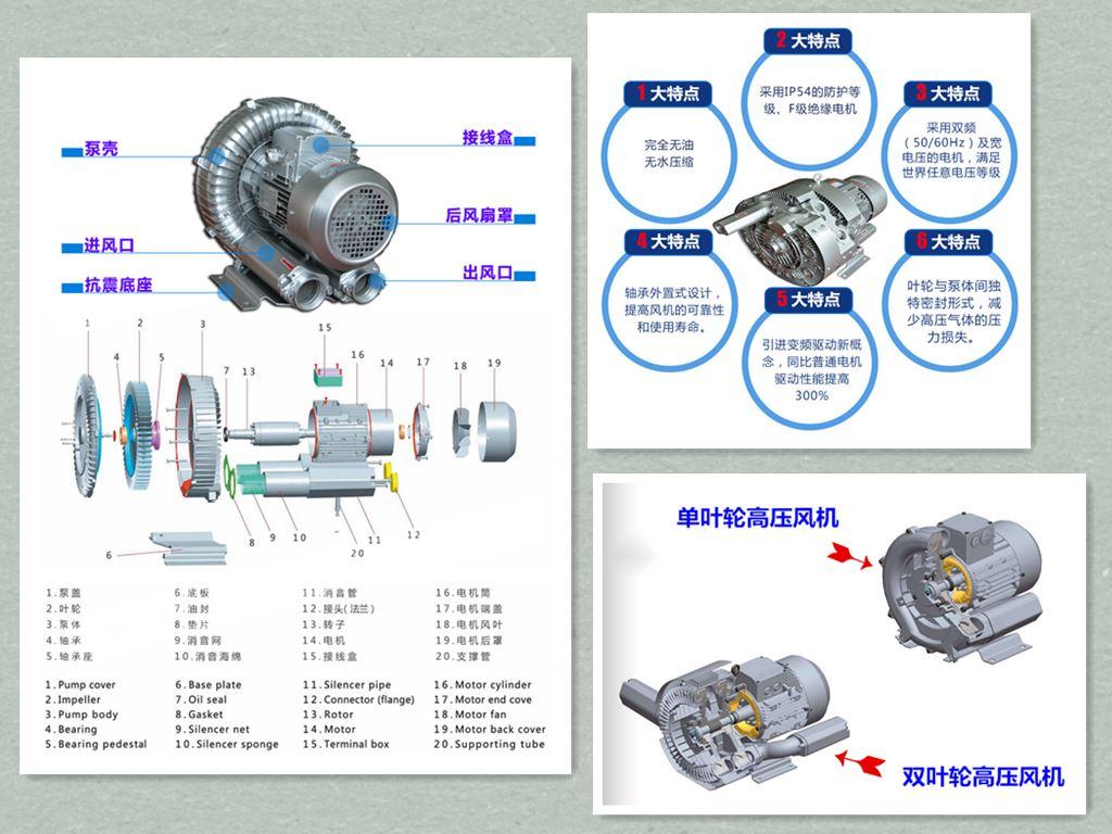 抽真空高压鼓风机,漩涡高压鼓风机,高压鼓风机厂家示例图2